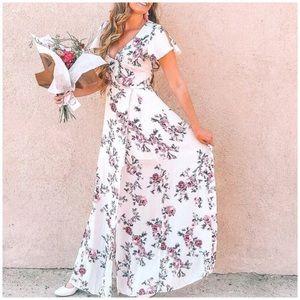✤ Floral Wrap Maxi Dress